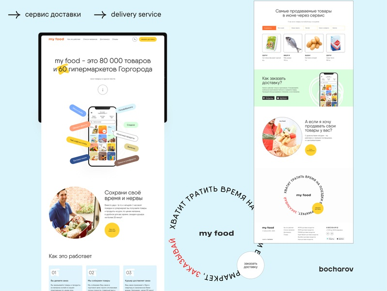 my food. Delivery service animated illustraion business screen online food online delivery minimalistic ux ui web design service food app food clean ui 2020 trend food landing page