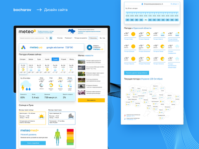Weather  website. Meteo website forecast weather visual ux ui temperature web illustration icon design climate change climate