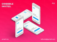 4x Dribbble invitations