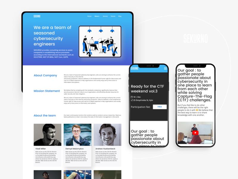 Website for protecting digital space. Sekurno.