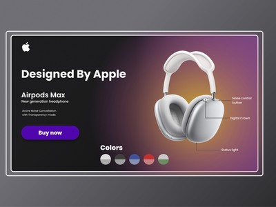 Landing Page: Airpods Max airpods apple web design ux ui