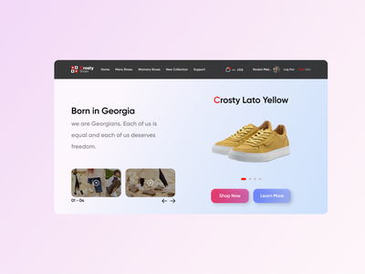 Crosty Shoes Redesign branding uxdesigner uiuxdesigner uiuxdesign uiux uidesigner web ux ui design