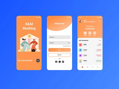 Mobile Banking App banking app banking uxdesigner uiuxdesigner uiuxdesign uiux uidesigner ux ui design