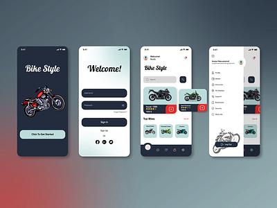 Bike Style dribbble bikeshop shop bike apple ios app ui design uidesign ui  ux uidesigns uxdesigner uiuxdesigner uiuxdesign uiux uidesigner ux ui design