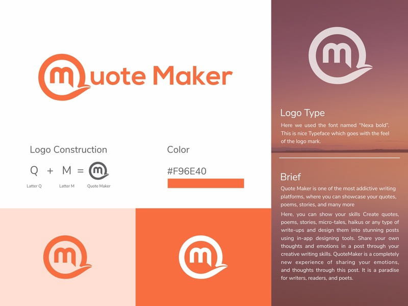Quotemaker Logo | Qm Logo | Quote Logo | QM Icon | Branding logo