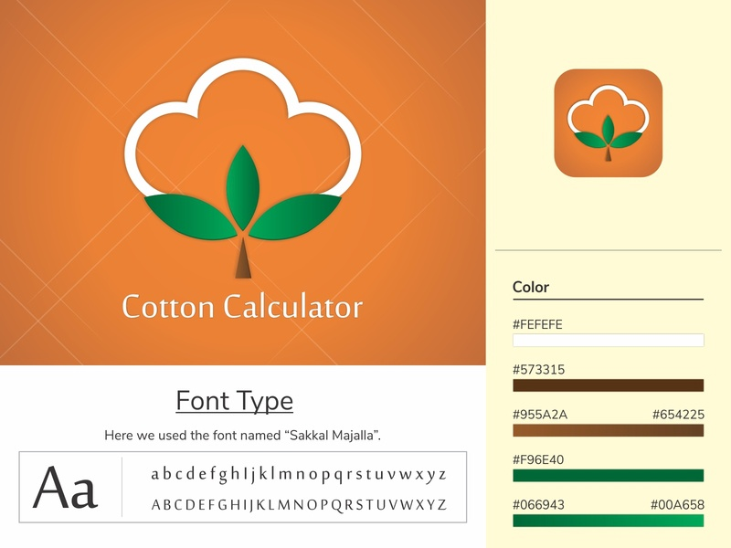 Cotton calculator Logo | Branding | Concept Logo