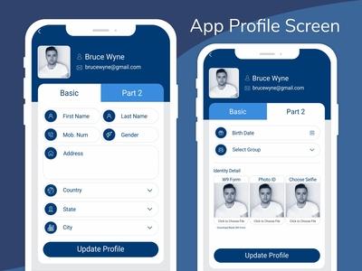 Application Profile Screen | Ui | Ux