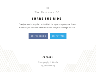 Social share social footer credit pattern facebook twitter share