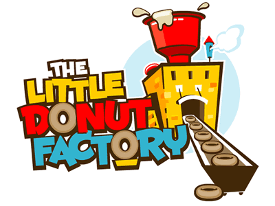 little donut factory logo by the logo factory dribbble. Black Bedroom Furniture Sets. Home Design Ideas