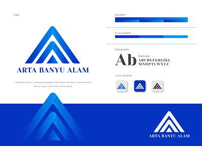Arta Banyu alam logo vector typography design logo branding