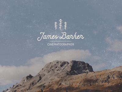 James Barker - Cinematographer brandmark barker james script logotype trees design cinematographer cinema logo brand