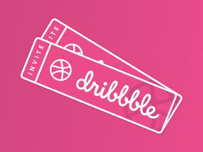 dribbble invites x 2 shot invitations invites pink invitation dribbble invite