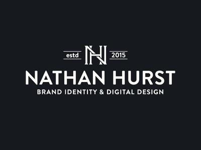 Nathan Hurst Logo Design wip monogram badge logo logo design branding brand lines nhd nh brand identity circle