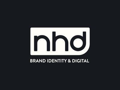 Nathan Hurst Design - Logo wip monogram badge logo logo design branding brand lines nhd nh brand identity circle