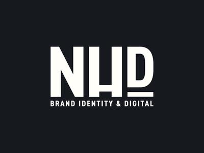 NHD Brand Identity wip logo logo design branding brand bold nhd nh brand identity