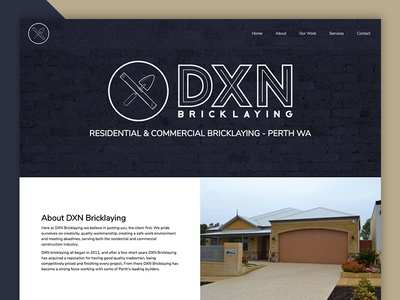DXN Bricklaying Website website minimal design clean bricklaying dxn