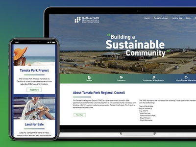 Tamala Park Regional Council Website Design market creations tamala park shire council