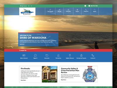 Shire of Waroona Website website design market creations shire waroona