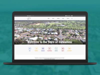 Shire of Dalwallinu Website shire dalwallinu website design market creations