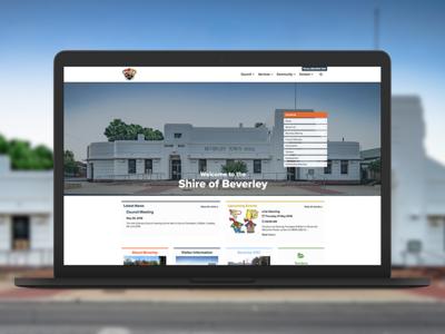 Shire of Beverley Website australia wa perth shire beverley website design market creations