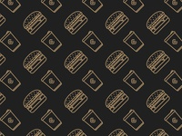 Burger & Coffee Pattern