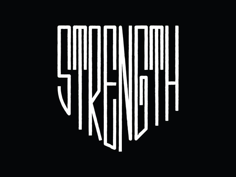 Strength symbol shield logo strong strength shield