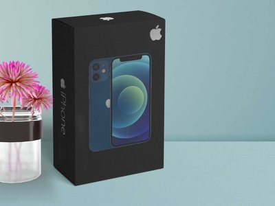 Premium iPhone 12 mini Mockup new collection apple branding mini 12 iphone premium packaging mockup
