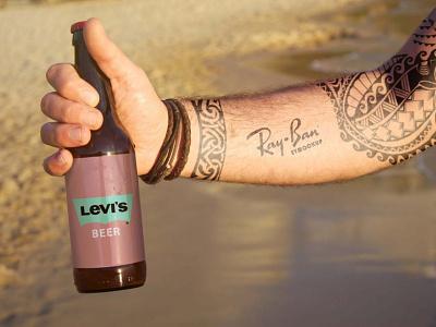 Levi's Beer Mockup latest free levis clean ui logo illustration design new premium collection packaging mockup bottle beer