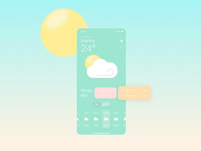 Weather App Concept vector illustration ux design ui