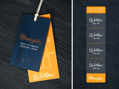 Wrangler URJ Ticketing apparel merchandise willow clean simple typography ticketing tag denim jeans wrangler