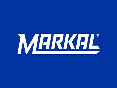 Markal Branding System branding marker industrial blue bold modern minimal clean tagline sharp typography label system packaging logo markal