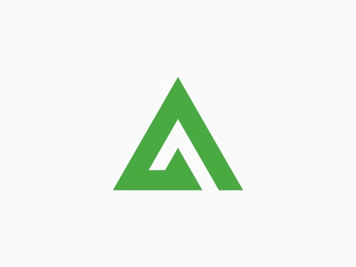 Atkore Branding modern icon clean logo branding core infrastructure construction industrial shape triangle green monogram a letter geometric