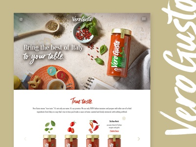 Barilla Vero Gusto Website inspiration shop nutrition search hover tablescape recipe modern design website pasta sauce food launch