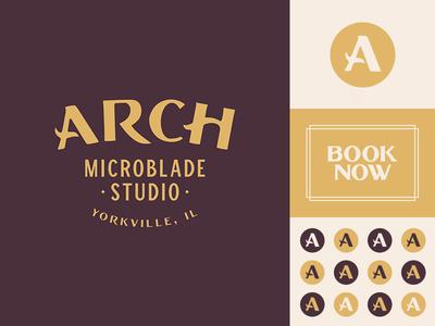 Arch Microblade Studio Branding