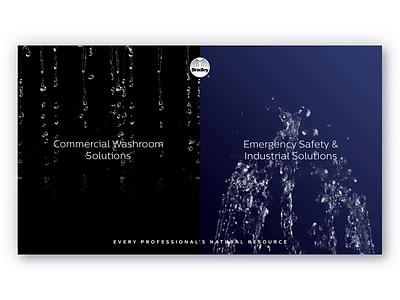 Bradley Website Homepage dynamic homepage slo-mo water design background video website ui