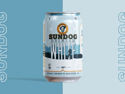 Churchill Brewing Co. – Sundog Belgian White hops wilderness dog belgian branding compass drink beer pioneer churchill sundog brewing company