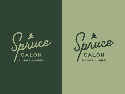 WIP: Spruce Salon Branding