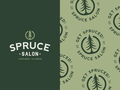 WIP: Spruce Salon Branding V2
