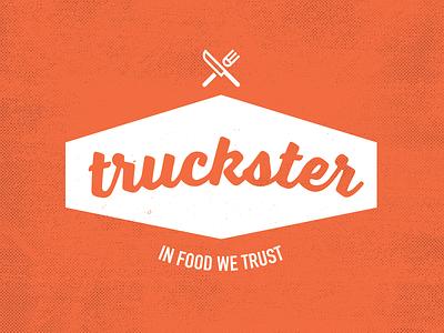 Truckster Logo logo truckster food truck app graphic design locator