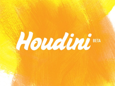 Houdini Logo logo mark houdini app logotype visual identity task management visual id identity graduation graphic design
