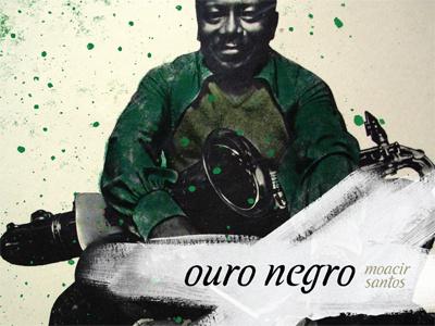 ouro negro typography type music jazz college black brazilian type design cover art