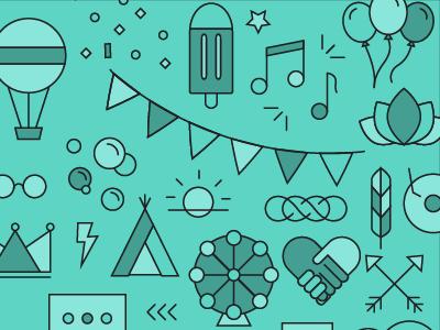 Festival Pattern edm festival icon pattern pattern icon
