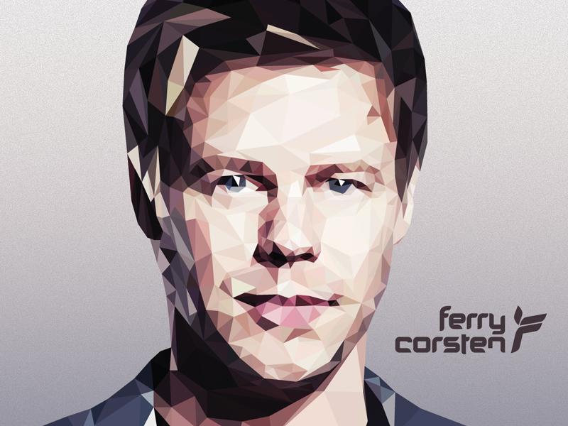 Ferry Corsten Polygon Art polygon trance ferry corsten edm fanart music