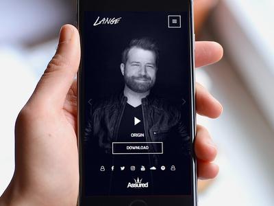 Lange Portrait & Landscape Shots portfolio artist dark responsive mobile-version lange trance producer dj mobile-site