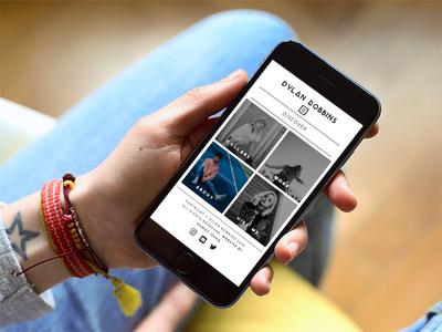 Fashion Photographer Mobile Site artist-site mobile-website photography website photographer-website fashion mobile-site