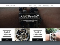 Style N' All Men's Bracelets Website Design