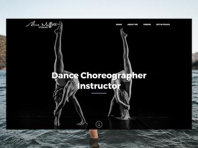 Alexa Moffett Dance Choreographer performance minimal white black choreographer dance website design website
