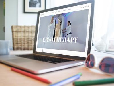 Cryo Healthcare - Concept Website concept website healthcare cryotherapy
