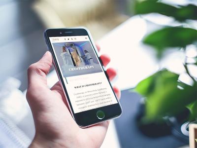 Cryo Healthcare - Concept Website - Mobile