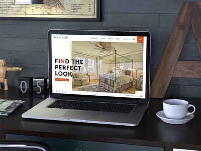 Homecrush Concept Website fashion trendy 2017 interior design website concept